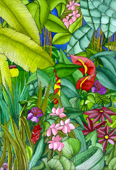 Anthurium in the Garden - Anthurium, Palms, and Flowers