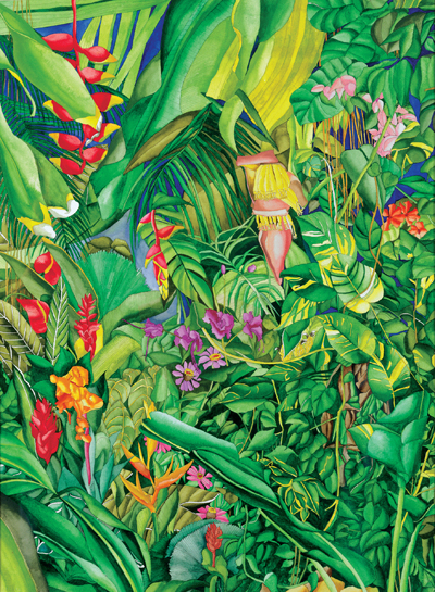 Caribbean Garden - Jungle Flowers, Frees, and Plants